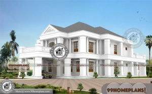 Bungalow House Design With Floor Plan with Two Story Front Porch Plans