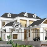 Bungalow House Plans With Attached Garage of 2 Floor Affordable Design