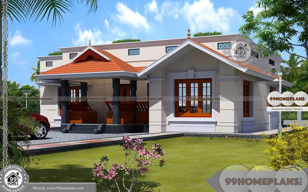Classic Country House Plans With Single Story Fusion Style