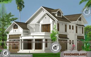 Contemporary House Design with 2 Story Combined Traditional Homes