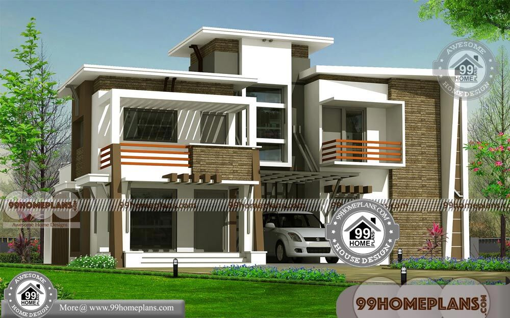 contemporary house designs in kerala with 2 floor mind