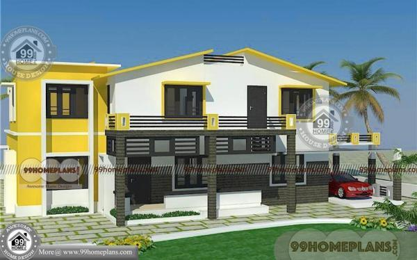 Contemporary House Plans And Elevations with Two Floor Modern Homes – Two Floor House Plans And Elevation