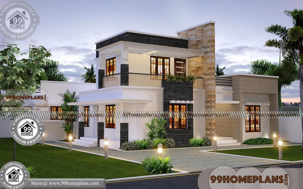 Contemporary house plans two story with flat roof new for Two story contemporary house plans