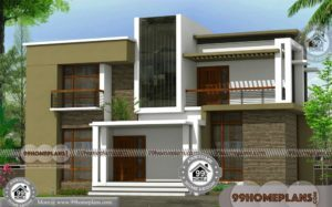 Contemporary House Plans with Flat Roof 2 Floor Home Collection Design