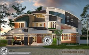 Contemporary Houses In Kerala with Double Story Large Duplex Collections