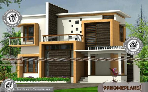 contemporary modern house plans with flat roof 2 floor modern design