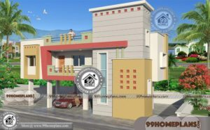 Contemporary One Bedroom House Plans with 2 Story Low Cost Designs