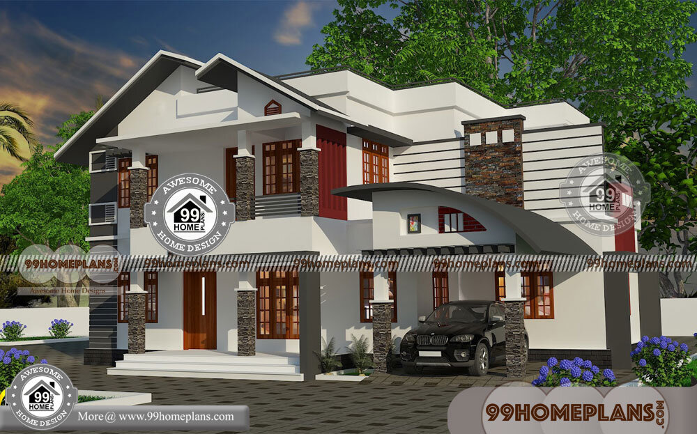 3 Bedroom Single Storey Budget House Part - 44: Budget Of This House Is 40 Lakhs U2013 Contemporary Single Storey House Designs