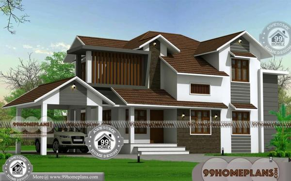 Contemporary Style House In Kerala with Two Story Modern Home Plans