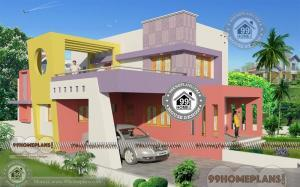 Corner Block Double Story House Designs with Awesome Plan Collections