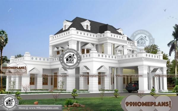 Country Style Bungalow House Plans with Two Story House Floor Designs