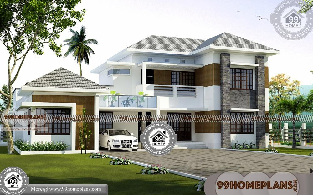Double Storey 5 Bedroom House Plans & 3D Elevations ...