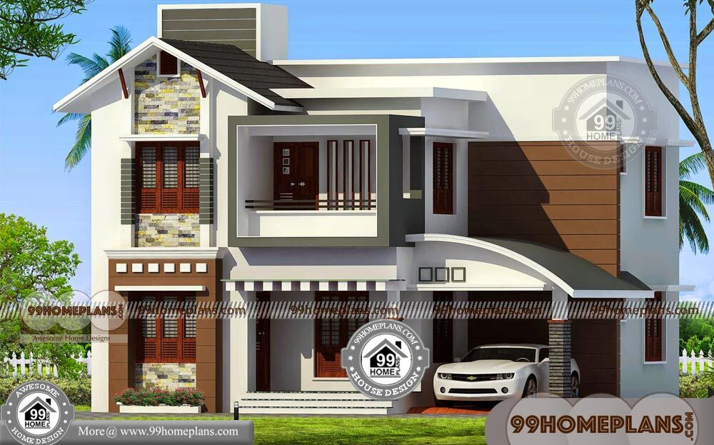 Double Storey House Plans With Balcony Best Contemporary Home Idea