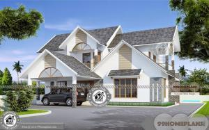 Double Story House Plans 5 Bedroom and Low Cost Residential Projects