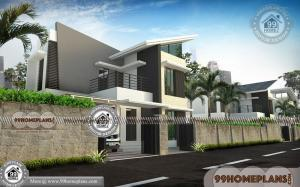 Double Story House Plans with Contemporary New Style Home Designs