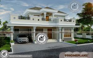 Double Story House with Traditional Conventional Designs of Modern Plan