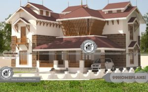 Duplex House Plans In Bangalore with Double Floor Contemporary Design