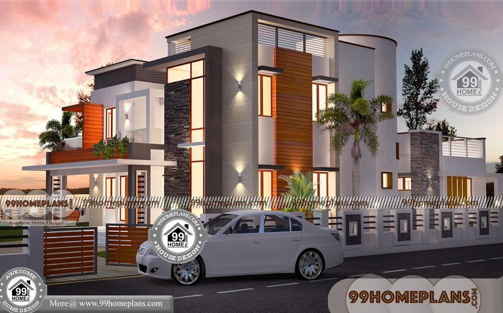 Economical 4 Bedroom House Plans & Contemporary Indian ...