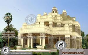 Exterior Bungalow House Design with 2 Story Modular Lake Front Homes