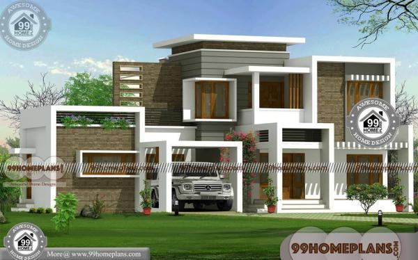 Flat Roof House Designs With 2 Floor Ultra Modern Latest Home Plan Free