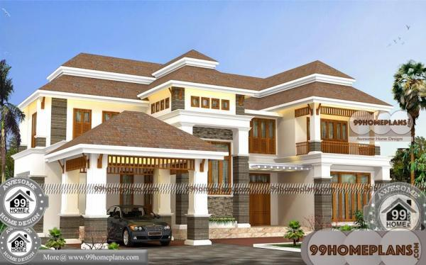 Front View Of Bungalow Houses With 2 Story Outdoor Structural Homes