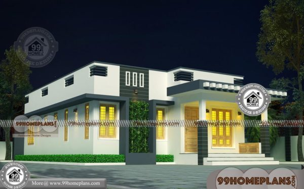 House Plan Small Home Design: G 1 House Plan With Contemporary Flat Roof Simple Low