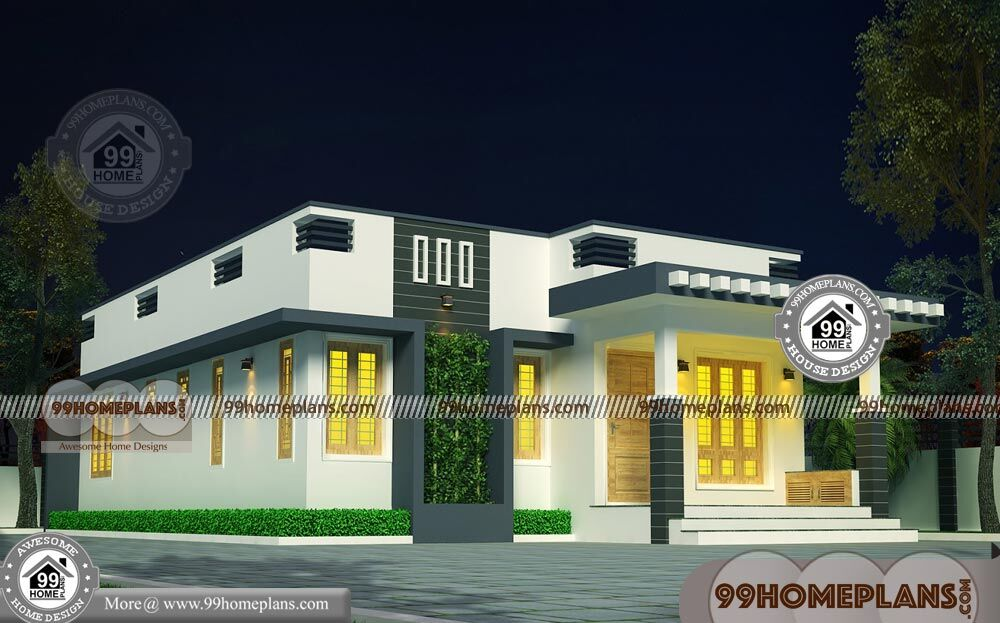 G 1 House Plan With Contemporary Flat Roof Simple Low Budget Designs