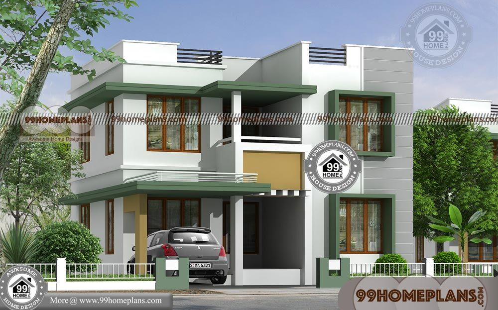 House Box Type Design With Two Story Narrow Lot Home