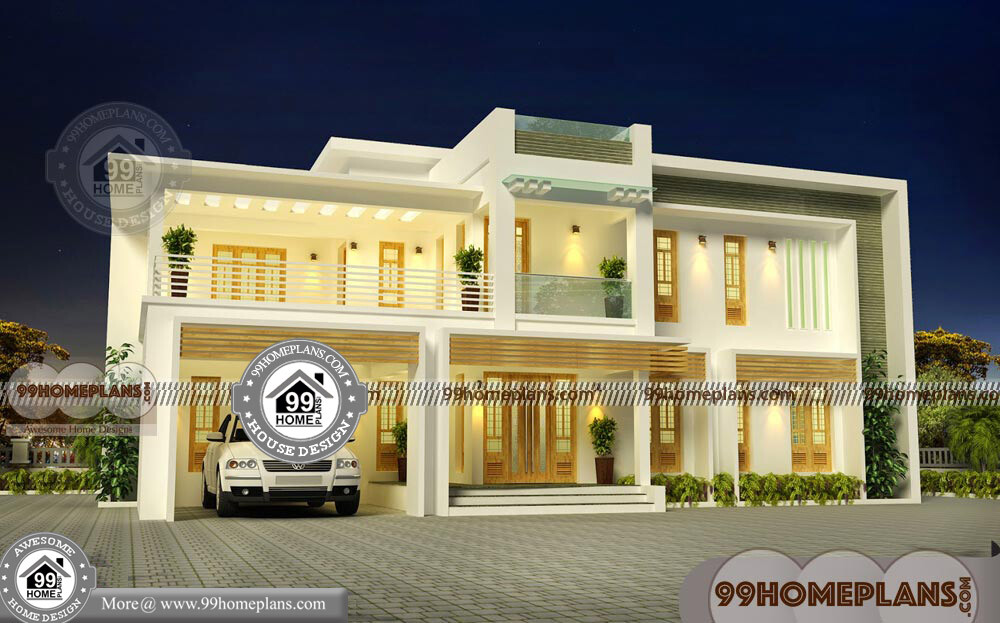 House design box type with contemporary flat roof modern for Modern box type house design