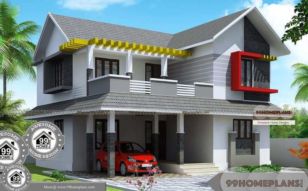 First Floor Elevation Models : House elevation models in kerala low budget awesome plans