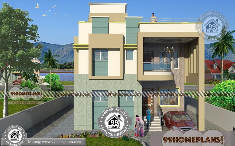 house front elevation simple designs with low cost cute 2 floor homes - 44+ Front Design Of Small House Ground Floor  Gif