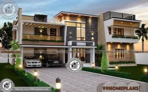 House Plans 4 Bedroom with Very Cute and Stylish Two Floor Plan & Ideas