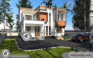 House Plans For Small Houses and Wide Space Balcony Home Designs