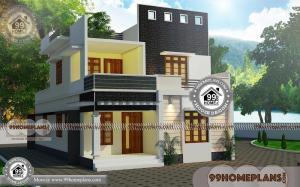 House Plans In Kerala With 3 Bedrooms with 2 Floor Urban Style Homes
