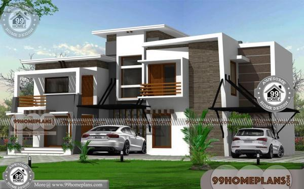 Indian contemporary house designs with double story modern for Free contemporary house plans