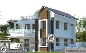 Indian House Designs Double Floor with Modern Fusion Style Home Plans