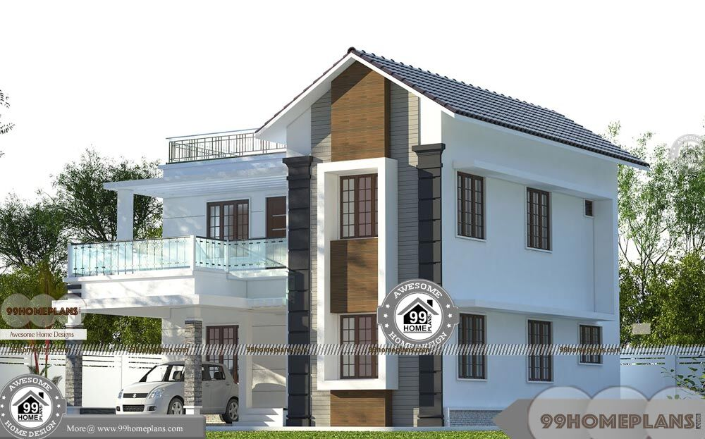 Indian House Designs Double Floor with Modern Fusion Style ...