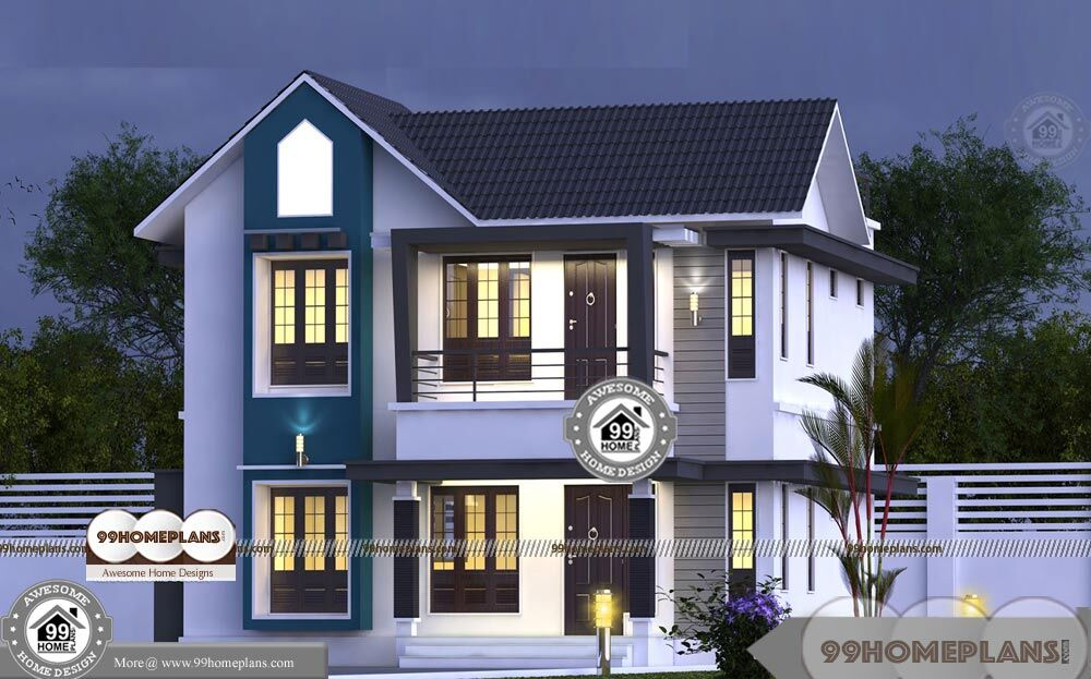 Kerala contemporary house plans and elevations unique for Variety home designs