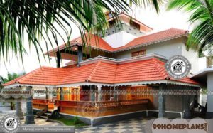Kerala Nalukettu Veedu Plan & Traditional Tharavadu Home Design Ideas