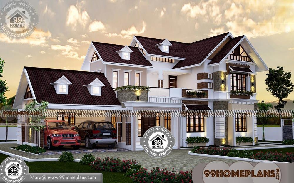 Kerala Style Traditional House Plans With Sloping Roof Model Collections