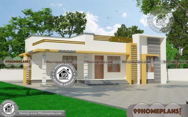 Modern 3 Bedroom House Design With One Story Model Flat