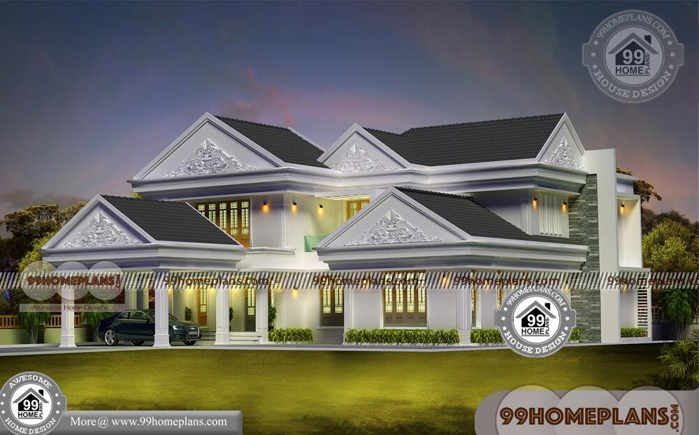 Budget of this house is 60 lakhs modern 4 bedroom bungalow plans