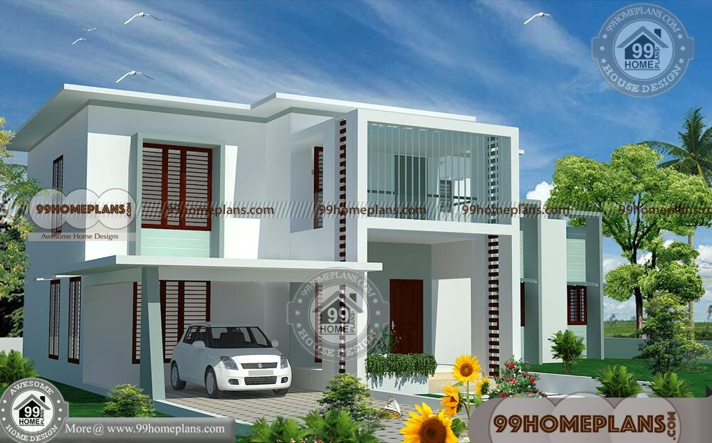 Modern 4 Bedroom House Floor Plans with Two Story Flat ...
