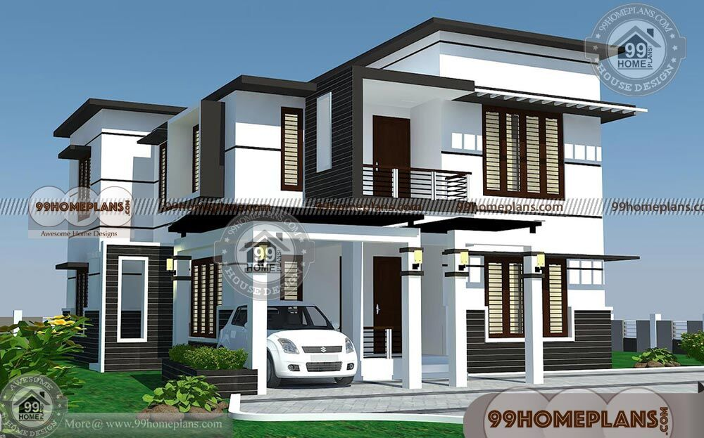Modern 4 bedroom house plans with 2 story floor plans of for 4 bedroom dream house