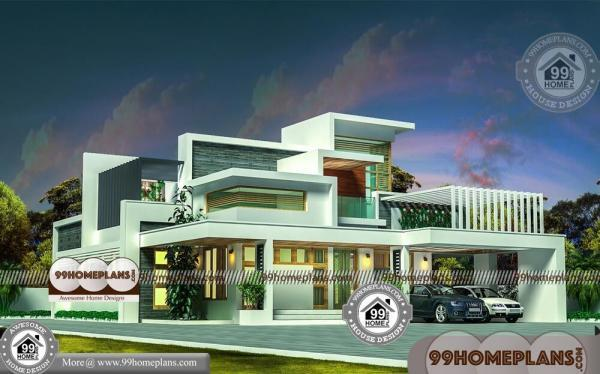 Modern 5 Bedroom House Plans with Double Story Contemporary Homes