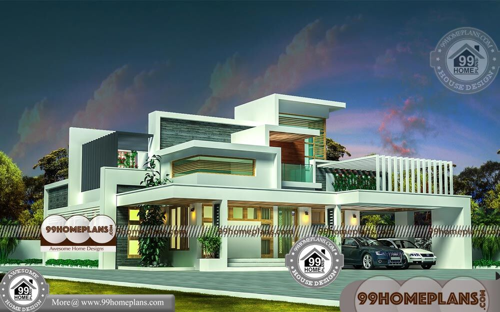 Modern 11 Bedroom House Plans with Double Story Contemporary Homes