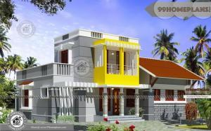 Modern Arabic Villa with Double Story Low Budget House Floor Plans Free