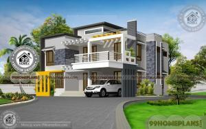 Modern Box House Plans with Double Floor Box Type Contemporary Plans