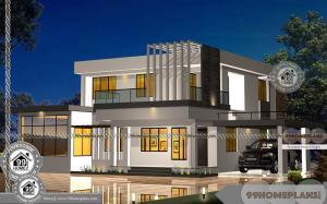 Modern Contemporary Home Design with Spacious Inside House Plans