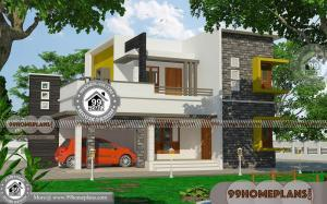 Modern Contemporary Homes with 2 Story Low Budget Dream House Plan